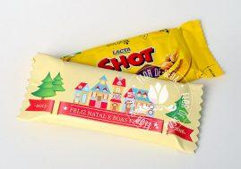 Lembrança de Natal e Ano Novo - Chocolate Shot com embalagem personalizada