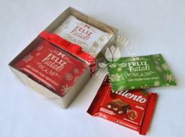 Lembrança de Natal - Caixa com 2 chocolates Talento personalizados