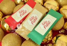 Lembrança de Natal - Chocolate 20g personalizado