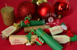 Lembrança de Natal - Chocolates Baton personalizados individualmente