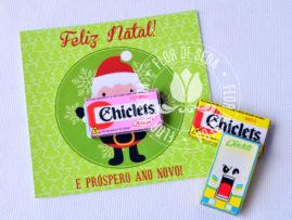 Brinde de Natal - Cartão de Natal personalizado com mini Chiclets