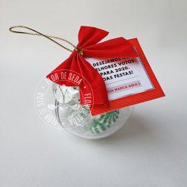 Lembrança de Natal e Ano Novo - Bola Acrílica com balas