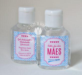 Lembrança dia das Mães - álcool gel em frasco de 30ml