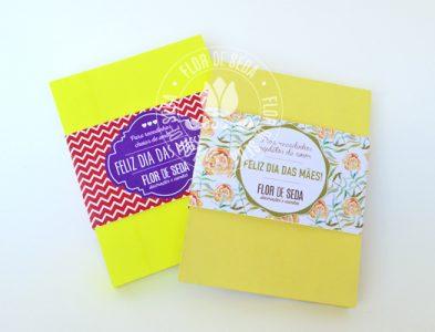 Lembrança dia das Mães Bloquinhos de stick-nots com cinta personalizada