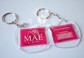 Brindes e lembranças para o dia das Mães - Chaveiro Acrilico Coração personalizado