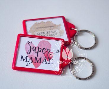 Brindes e lembranças para o dia das Mães - Chaveiro Colorido personalizado