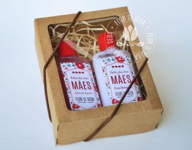 Brindes e lembranças para o dia das Mães - Kit Beleza (Sabonete Líquido e Creme Hidratante) personalizados