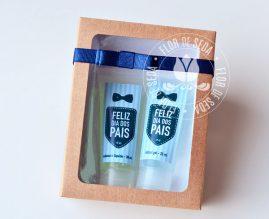 Lembrança Dia dos Pais - Kit para necessaire com Álcool Gel e Sabonete líquido