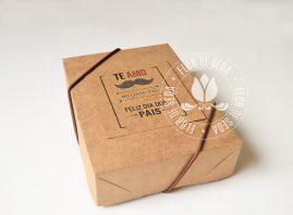 Lembrança Dia dos Pais Caixa Kraft com Bloquinho de anotações e Caneta