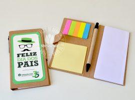 Lembrança Dia dos Pais Bloquinho de anotações Ecológico com Caneta