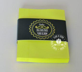 Lembrança Dia dos Pais Mini Bloquinho Postit com cinta personalizada