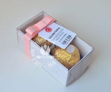 Lembrança dia da Secretária - Caixa com 2 bombons Ferrero Rocher