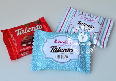 Lembrança dia da Secretária - Chocolate Talento Personalizado