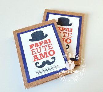 Lembrança Dia dos Pais Bloquinho de anotações capa Kraft