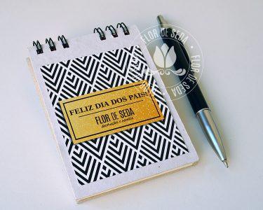 Lembrança Dia dos Pais Bloquinho de anotações Wire-o capa dura
