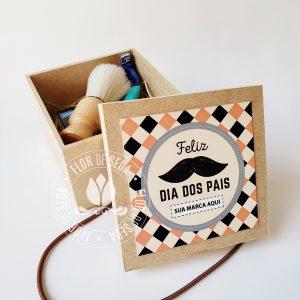 Lembrança dia dos Pais - Kit para Barba em caixa de MDF