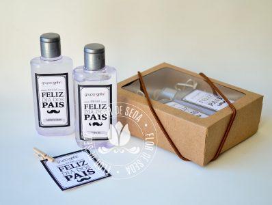Lembrança dia dos Pais - Kit Higiene na caixa Kraft