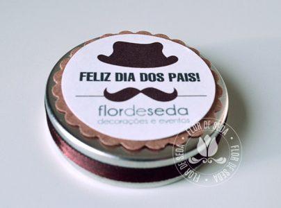 Lembrança Dia dos Pais - Latinhas personalizadas