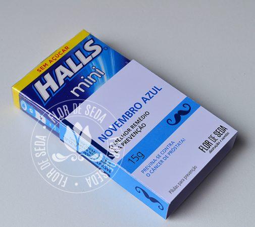 Lembrança Novembro Azul-Balas da Prevenção Halls Mini
