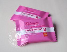 Outubro Rosa - Chocolate Talento com embalagem personalizada