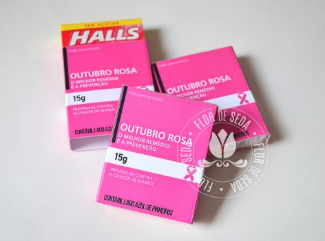 Outubro Rosa - Mini Halls com embalagem personalizada
