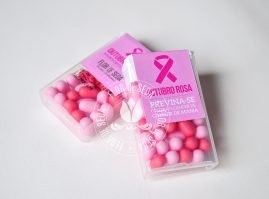 Outubro Rosa - Pastilha com embalagem personalizada