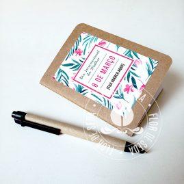 Lembrança Caderneta com costura com capa personalizada