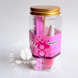 Lembrança dia Internacional da Mulher-Kit Lata Manicure com cinta personalizada com logotipo do cliente