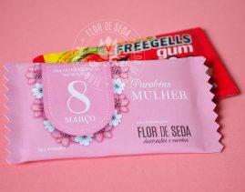 Lembrança dia Internacional da Mulher-Goma de mascar Freegells Personalizada