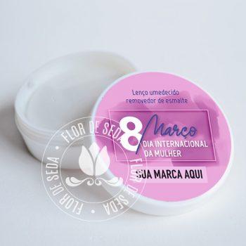 Lembrança dia Internacional da Mulher-Lata com Lenços Umedecidos removedor de esmalte personalizado
