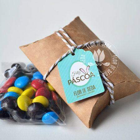 Lembranças para Páscoa-Mini embalagem Kraft envelope com MMS com tag personalizada