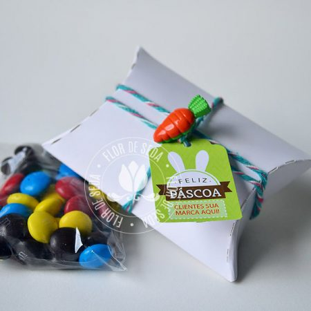 Lembranças para Páscoa-Mini embalagem Branca envelope com MMS com tag personalizada