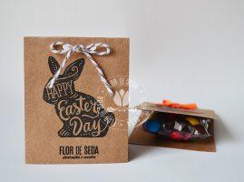 Lembranças para Páscoa-Embalagem Kraft personalizada com MMS