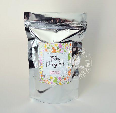 Lembranças para Páscoa-Embalagem Metalizada Personalizada com chocolates, bombons e balas