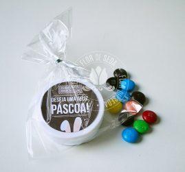 Lembranças para Páscoa-Latinhas personalizadas com MMS