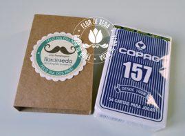 Lembrança Dia dos Pais Baralho Copag com embalagem personalizada