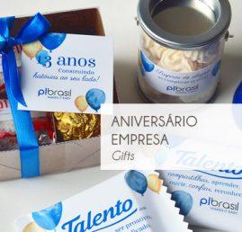 Aniversário empresa - brinde corporativo