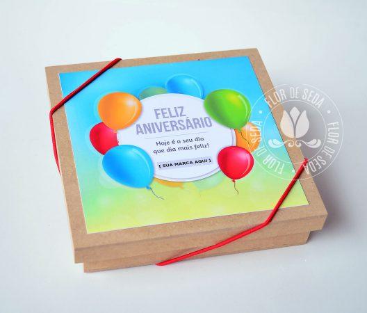 Brinde Aniversariantes do Mês - Colaboradores - Box festa MDF