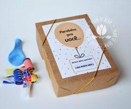 Brinde Aniversariantes do Mês - Colaboradores - Box festa Kraft