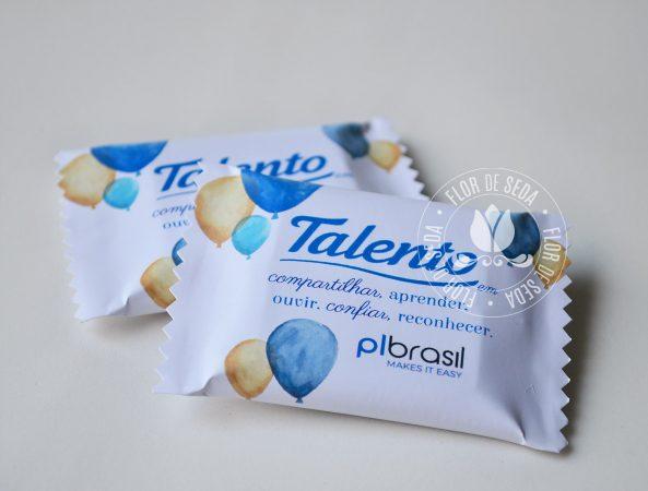 Aniversário empresa - brinde corporativo - Chocolate Talento em embalagem personalizada