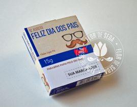 Lembrança dia dos Pais - Mini Halls com embalagem personalizada