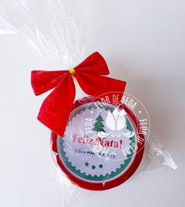 Lembrança de Natal e Ano Novo - Latas especiais com cartão e balas