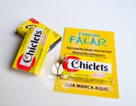 Setembro Amarelo - Cartões personalizados com chiclets