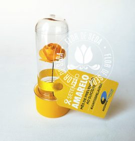 Setembro Amarelo - Mini tubete com tag personalizada